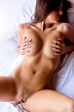 Horny busty model Abigail Mac