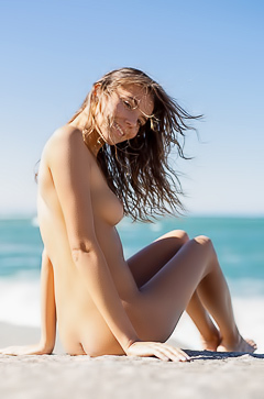 Katya Clover is a naked bad girl at the beach