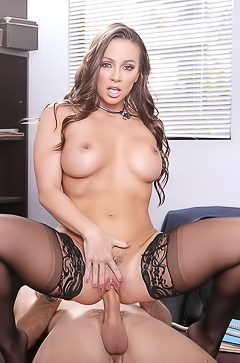 Seductive Secretary Abigail Mac