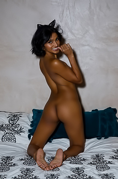 Tanned Babe Angel Constance Getting Naked