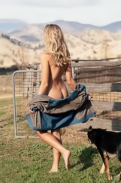 Natalie Roser Fully Naked Out On The Ranch