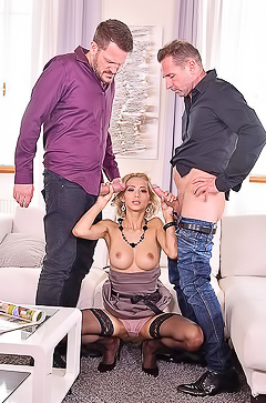 Veronica Leal Two Cocks Make Her Cum
