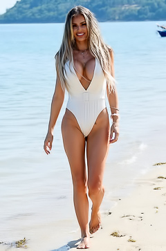 Chloe Sims On The Beach