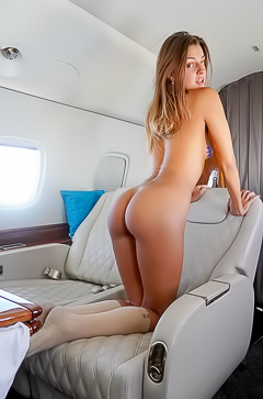 Melena Tara Stripping Herself Naked In A Private Jet
